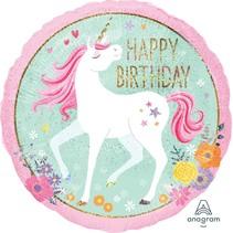 "***Magical Unicorn Birthday 18"" Mylar Balloon"