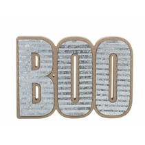 ***Boo Wood & Metal Sign