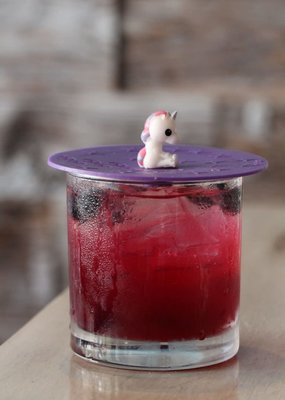 "On Topz ***On Topz Unicorn 4"" Drink Topper"
