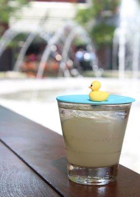 """On Topz ***On Topz Rubber Duck 4"""" Drink Topper"""