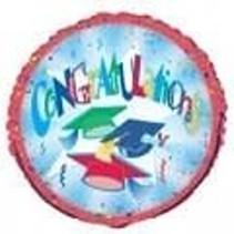"***Congratulations Grad 18"" Clearance Mylar Balloon"