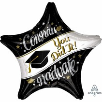 "***Grad On Your Way 28"" Jumbo Star Balloon"