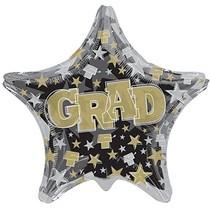 "***Grad Shaped 28"" Jumbo Star Mylar Balloon"