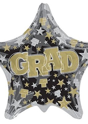 "***Grad Shaped 28"" Jumbo Star Mylar Balloon"