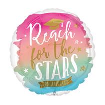 """***Reach For The Stars 28"""" Jumbo Graduation Balloon"""