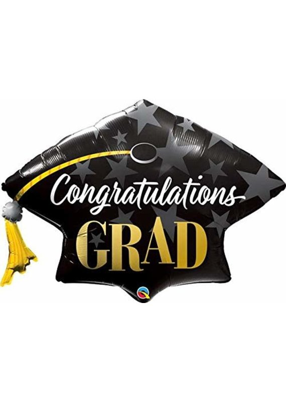 "****Congrats Grad Stars 41"" Jumbo Mortar Board"