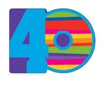 ***Birthday Stripe 40th Party Invitation 8ct