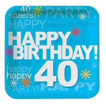"""***Time to Party 40 Birthday 7"""" Plates 8ct"""