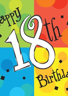 ***Cake Celebration 18th Birthday Lunch Napkins 16ct