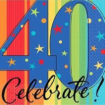 ***Year to Celebrate 40 Beverage Napkins 16ct
