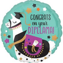 "***Unicorn Congrats on Diploma 17"" Mylar Balloon"