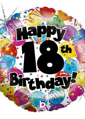 ***Happy 18th Birthday Holographic Mylar Balloon