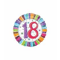 ***Radiant 18th Birthday Mylar Balloon
