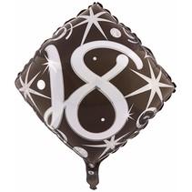 ***Elegant Sparkle Swirl 18th Birthday Mylar Balloon