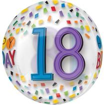 ***Clear 18th Birthday Orbz Balloon