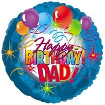 ***Happy Birthday Dad Mylar Balloon