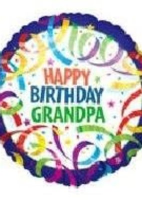 ***Happy Birthday Grandpa Mylar balloon