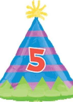 M&D industries ***5th Birthday Hat Mylar Balloon