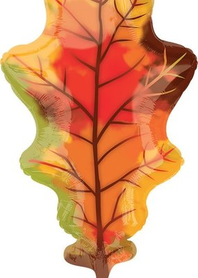 "***Fall Oak Leaf 42"" Mylar Balloon"