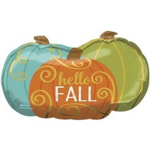 ***Hello Fall Pumpkins Jumbo Mylar Balloon