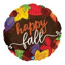 "***Happy Fall Leaves 18"" Mylar Balloon"