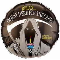 "***Grim Reaper Birthday 18"" Mylar Balloon"