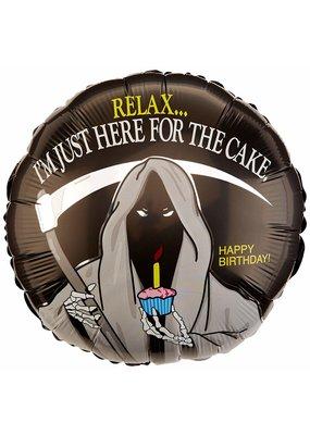 "***Grim Reaper Birthday 18"" Mylar Balloon"