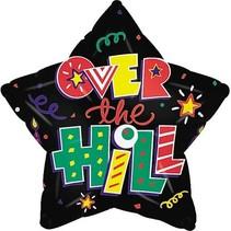 "***Over The Hill Star 18"" Mylar Balloon"