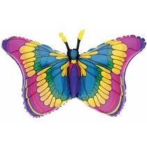 ***Flutters Stained Glass Butterfly Jumbo Balloon