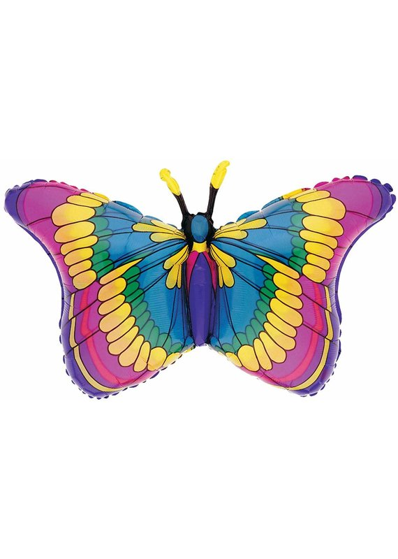 M&D industries ****Flutters Stained Glass Butterfly Jumbo Balloon