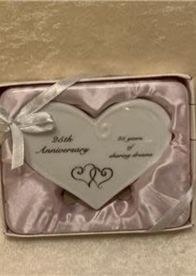 ***25th Anniversary Heart Message Plaque