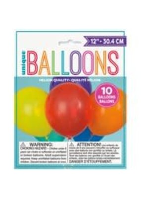 "***12"" Latex Balloons, 10ct - Assorted Colors"