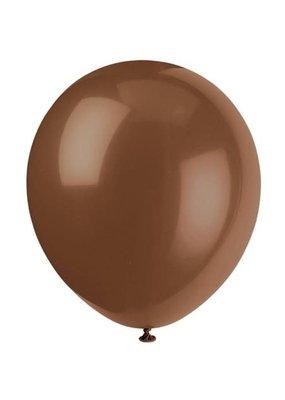 "***12"" Latex Balloons, 10ct - Brown"