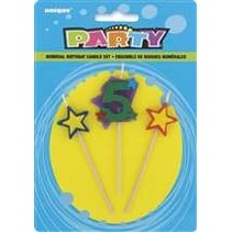 ***Number 5 Star Birthday Candle Set