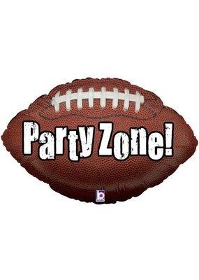 "***Party Zone 29"" Jumbo Football Shape Mylar Balloon"