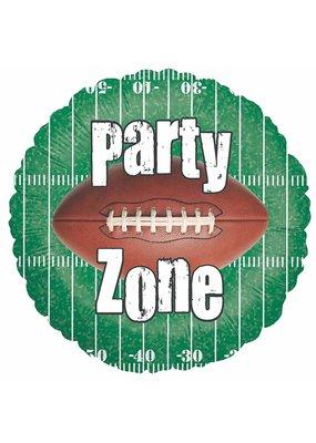 "***Party Zone Field Football 18"" Mylar Balloon"