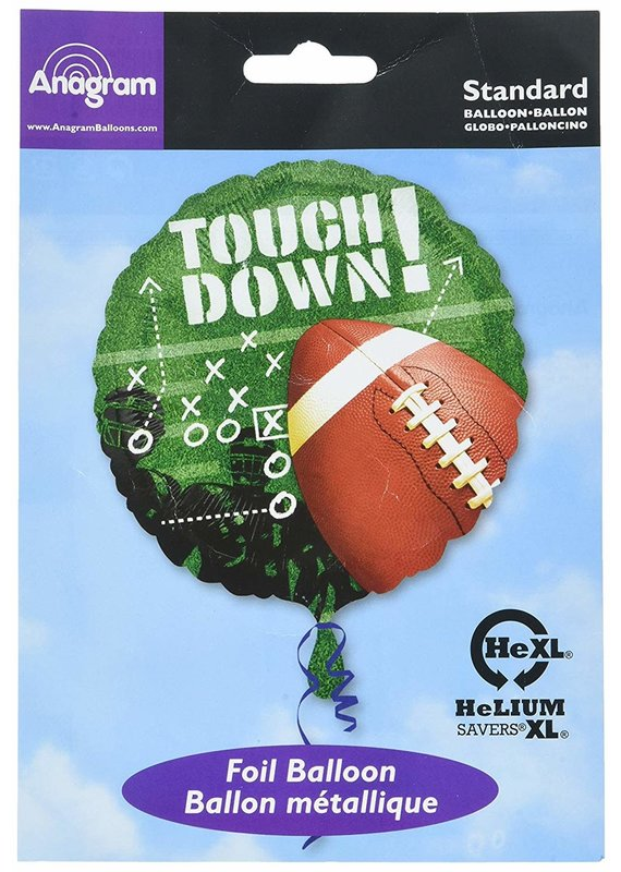 "*****Touchdown Football 18"" Mylar Balloon"