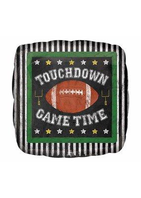 "***Touchdown Game Time 18"" Football Mylar Balloon"