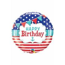 ***Happy Birthday Nautical  Balloon