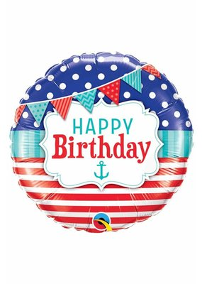 ***Happy Birthday Nautical  Balloon