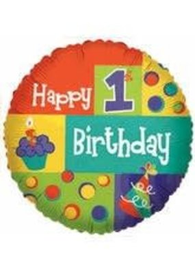 ***First Birthday Cupcake Mylar Balloon