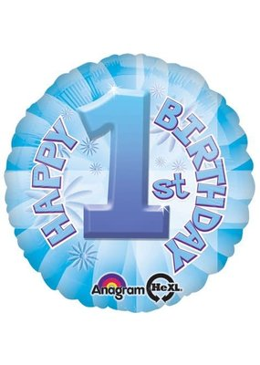***Boy 1st Birthday Mylar Balloon