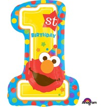 ***Sesame Street Elmo Number 1 Supershape Balloon