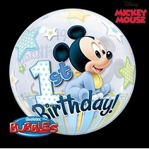 ***Baby Mickey Mouse 1st Birthday Bubble Balloon
