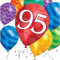 ***Balloon Blast 95 Birthday Lunch Napkins