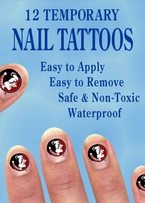 ***Florida State Temporary Nail Tattoos