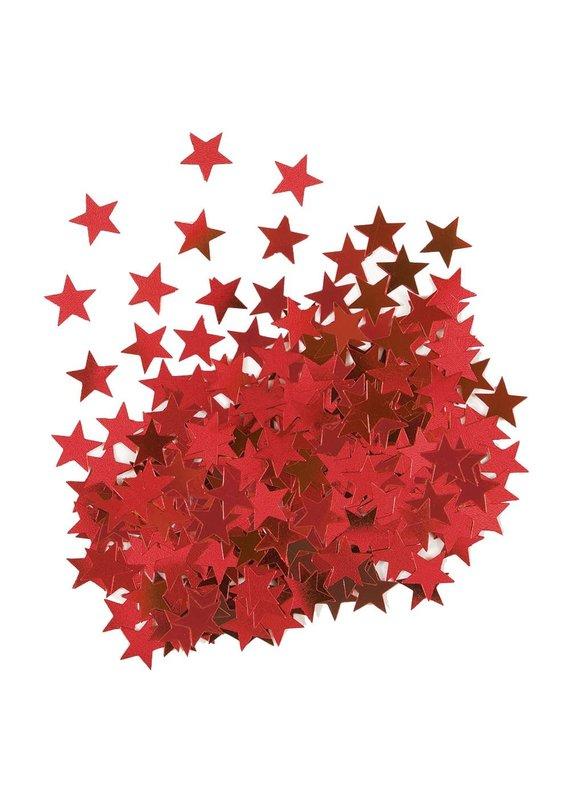 ****Metallic Red Star Confetti .5oz Bag