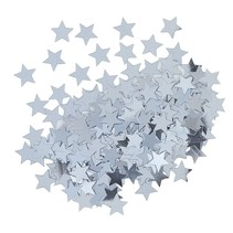 ***Metallic Silver Star Confetti .5oz Bag