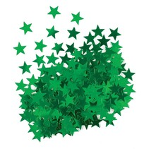 ***Metallic Green Star Confetti .5oz Bag