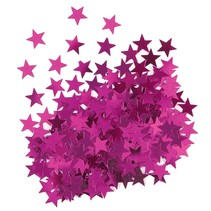 ***Metallic Hot Pink Stars Confetti .5oz Bag